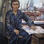 Portrait of a shipyard worker. Autorka lub autor nie znany