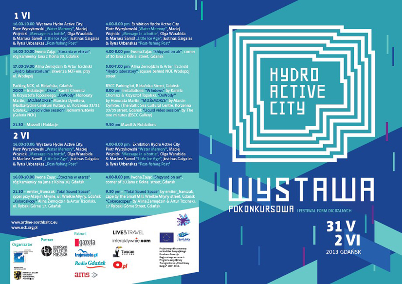 Hydro Active City, NCK 1-2.06.2013 Projekt graficzny| graphic layout: Adam Przybysz