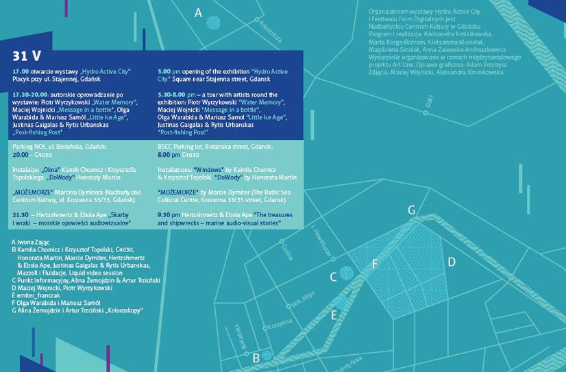 Mapka, projekt graficzny| graphic layout: Adam Przybysz